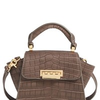ZAC Zac Posen 'Mini Eartha' Croc Embossed Leather Top Handle Crossbody Bag | Nordstrom