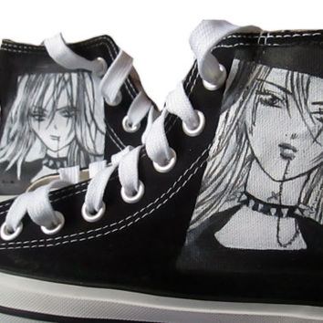 Personalized handpainted shoes, Skip Beat Manga Fanart shoes, custom sneakers