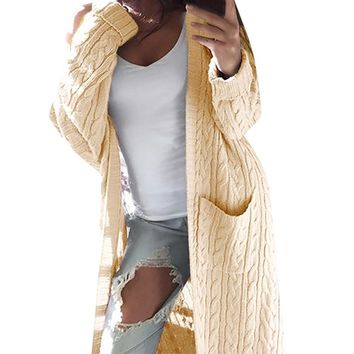 Women's Winter  Loose Fitting Knitted Sweater