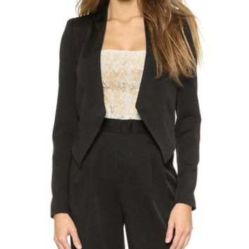 alice + olivia Mailynn High Low Jacket