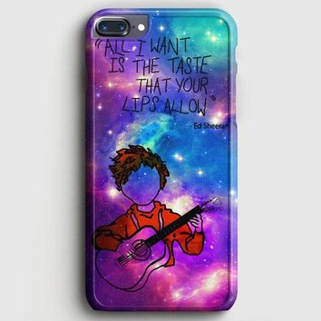 Ed Sheeran Guitar Galaxy iPhone 7 Plus Case