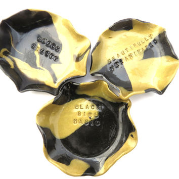Black Girl Magic Jewelry Dish Gold and Black Collection - NEW