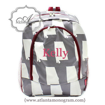University of Alabama Monogrammed Backpack Bama Backpack Roll Tide