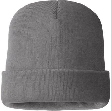 Hands On Mens 100% Acrylic Coal Heater Color Beanie Hat 40 gm Thinsulate Lined.