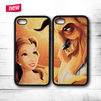 Beauty And Beast  iPhone 4 4S 5 5S 5C 6 6 Plus , iPod 4 5 , Samsung Galaxy S3 S4 S5 Note 3 Note 4 , HTC One X M7 M8 Couple Case