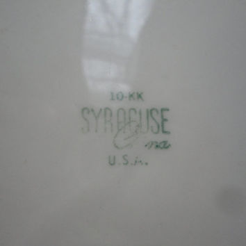 Syracuse China replacement Floral Bread Butter Dessert Salad home Decor Plate