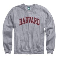Harvard University Classic Crew Sweatshirt (Heather Grey)