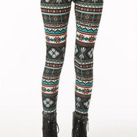 Multicolored Intarsia Legging