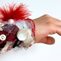 Eco Friendly Cuff Juicy Reds | lilgreenshop - Accessories on ArtFire