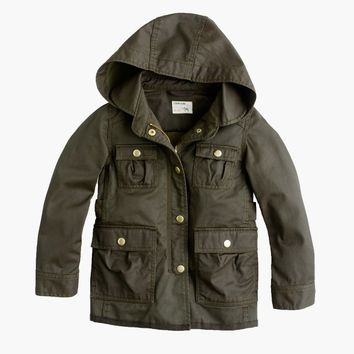 Girls' Hooded Downtown Field Jacket : Girls' Jackets & Coats | J.Crew