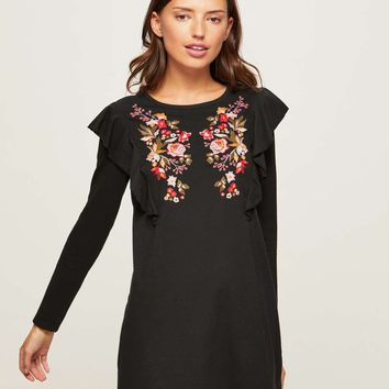 PETITE Embroidered Dress | Missselfridge