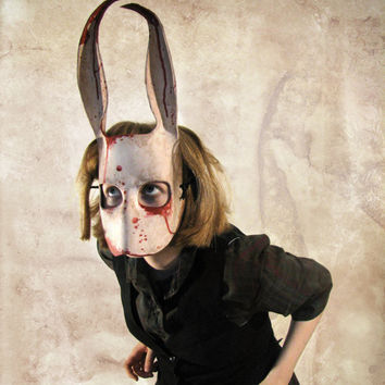Leather Horror Bunny Mask By Katie Lawter