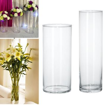 Acrylic Cylinder Vase Clear Round Plastic Wedding Table Flower Stander Road Lead wedding centerpiece event party decoration