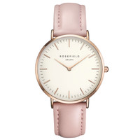 ROSEFIELD Watch Golden Genuine Leather Quartz Movement Water Resistant 3ATM Watch Women Dress Men Sports Famous Brand Watch