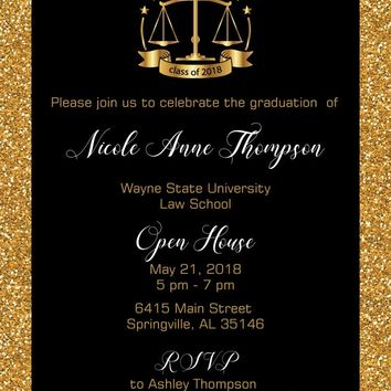 Law Graduation Invitations