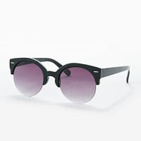 Fabris Lane Oversized Half-Frame Sunglasses in Black - Urban Outfitters