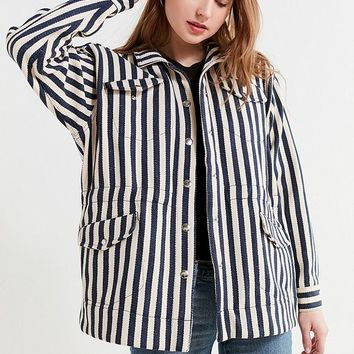 UO Striped Utility Jacket | Urban Outfitters