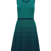 Stripe-Knit Fit-and-Flare Dress | Banana Republic