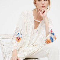 Free People Embroidered Flower Tunic