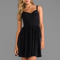 Amanda Uprichard Silk Champagne Dress in Black from REVOLVEclothing.com