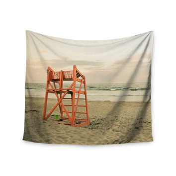 "Debbra Obertanec ""Dusk At the Beach"" Ocean Wall Tapestry"