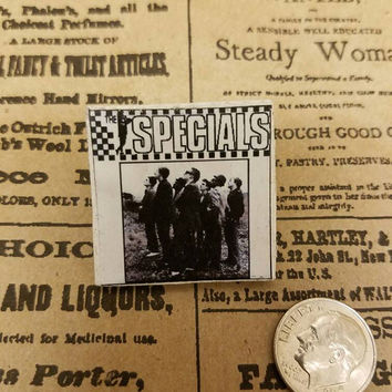 The Specials wood band album pin