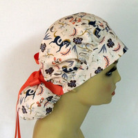 Scrub Cap, Women's Surgical Cap, Carousel in Blush