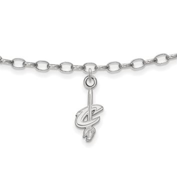 NBA Cleveland Cavs Anklet in Sterling Silver - 10 Inch