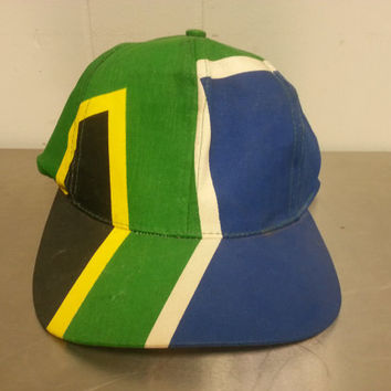 Vintage South Africa Fresh Prince Of Bel Air Retro Funky South African Flag 1980's 1970's Hipster Style Dad Hat