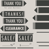 Personal and Commercial Use - Minimalistic Store Graphics - Stamps/Printables/Multi-use. 21 total graphics!