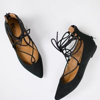 Animated Lace Up Flat