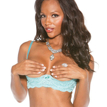 Stretch Lace Shelf Bra W-wired Demi Cup Spearmint 36
