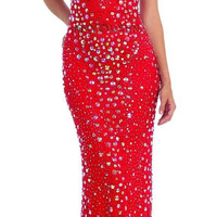 Long Dresses for Homecoming 2017 Embellished Halter Fitted Sheer Prom Dress