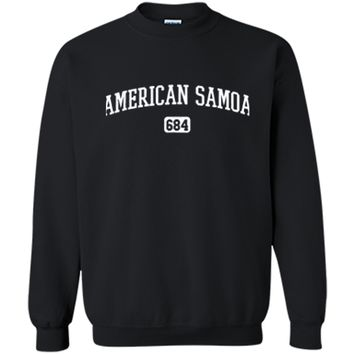 American Samoa 684 Country Area Code Samoan Pride T-Shirt Printed Crewneck Pullover Sweatshirt
