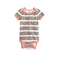 BABY ONE-PIECE IN FLORAL STRIPE