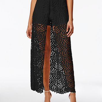 Material Girl Juniors' Lace-Overlay Skort, Only at Macy's | macys.com