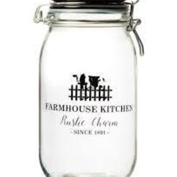 Glass 'Rustic Charm' Canister