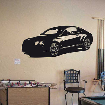 Wall Vinyl Decal Sticker Interior Design Car Logo BENTLEY CONTINENTAL GT 004