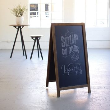 Large Wooden Sandwich Chalk Board