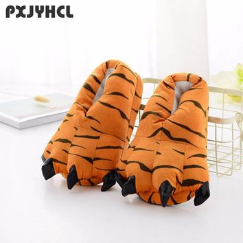 Cool Child Kigurumi Tiger Slipper For Boy Adult Anime Cospaly Animal Shoe Warm Kid Cartoon Unicorn Shoes For Costume Stitch