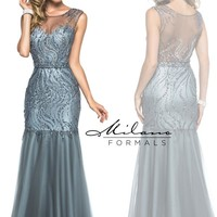Milano Formals Beaded Mermaid Dress E1907