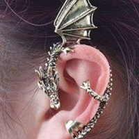 Vintage Punk Style Dragon&Wings Stud Earring
