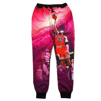 New Jogger Pants Michael Jordan Character Shooting Graphic 3D Printed Sweatpants Hip H