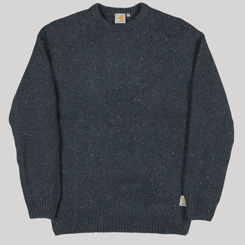 Carhartt Anglistic Sweater Navy Heather