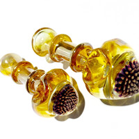 Flower Marble Glass Pipe