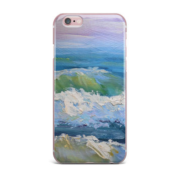"Carol Schiff ""The Pastel Sea"" Ocean Painting iPhone Case"