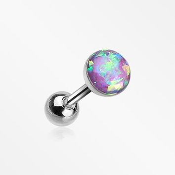 Opal Sparkle Cartilage Tragus Earring