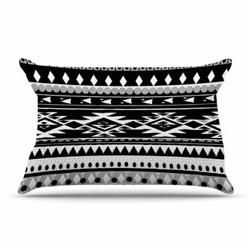 "Nika Martinez ""Black Hurit"" Gray White Pillow Sham"