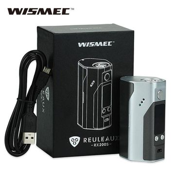 100% Original Wismec Reuleaux RX200S TC 200W OLED Screen Box Mod Upgradeable Firmware Reuleaux RX200 S for smok tfv8/ tfv12 Tank