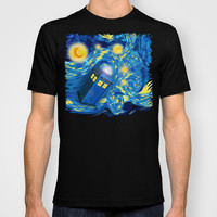 Tardis doctor who Starry night Cartoons Made in USA Short sleeves tee tshirt